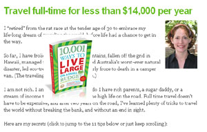 Travel Full-Time for less than $14,000 per year