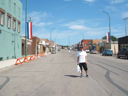 Downtown Kamsack in Canada