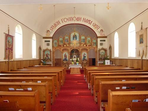 Inside the Ukrainian Church