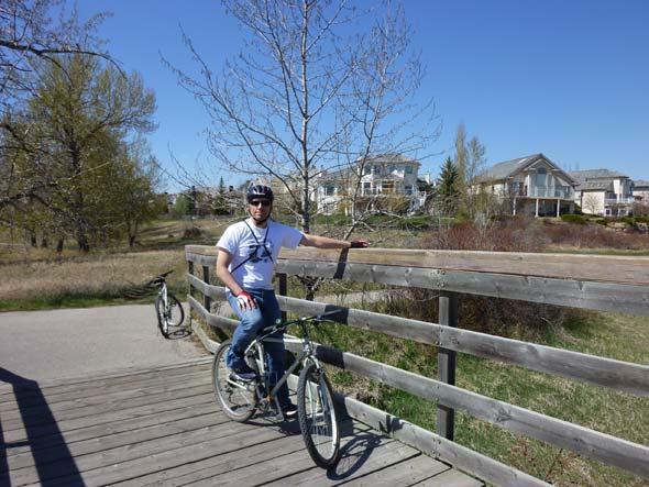 Biking in Calgary, Canada