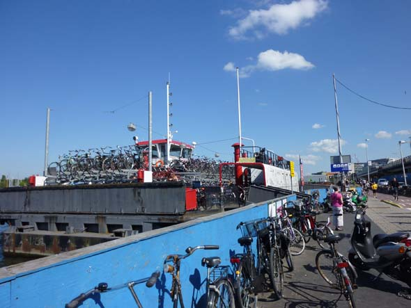 Bicycles on a Ferry