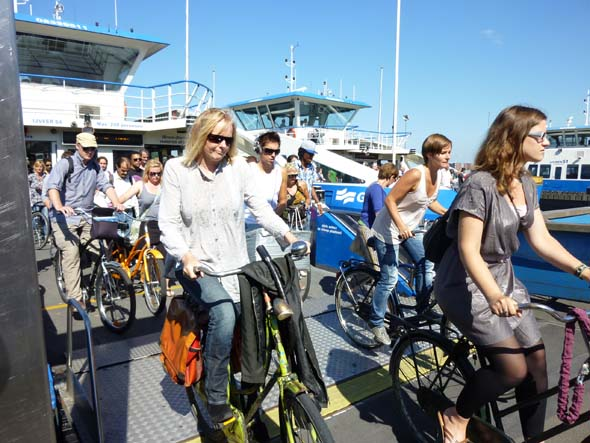 Getting off the Ferry