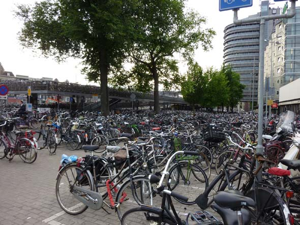 Bicycles in front of the Train Station