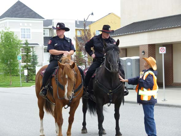 Cowboy police in Calgary during the Stampede.