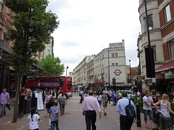 Shopping for theater tickets at Leicester Square