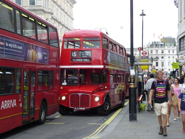 New and Old Double Decker Buses