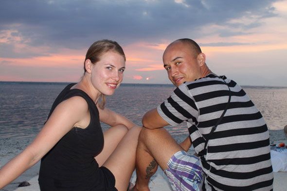 Tom and Lieve in Bali