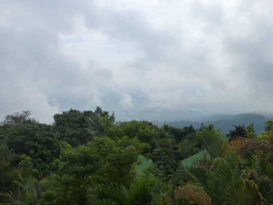 the view of chiang mai Hiking Doi Suthep in Chiang Mai