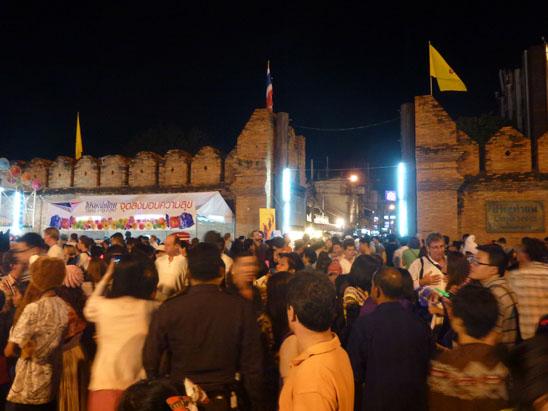 New Year Eve Countdown Tha Phae Gate