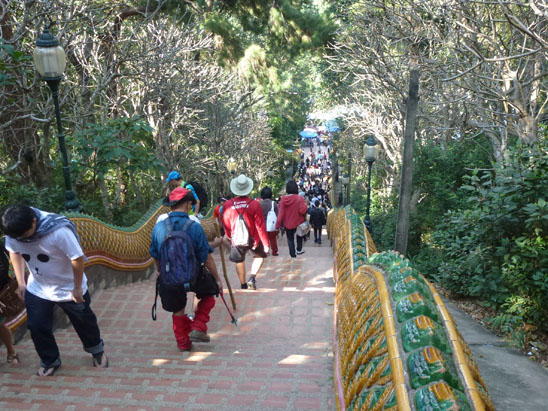 Doi Suthep hike stairs