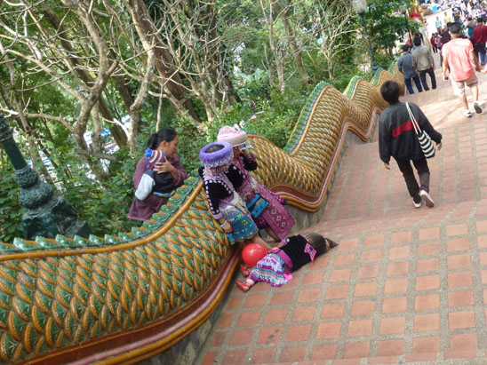 Doi Suthep hill tribe kids Hiking Doi Suthep in Chiang Mai