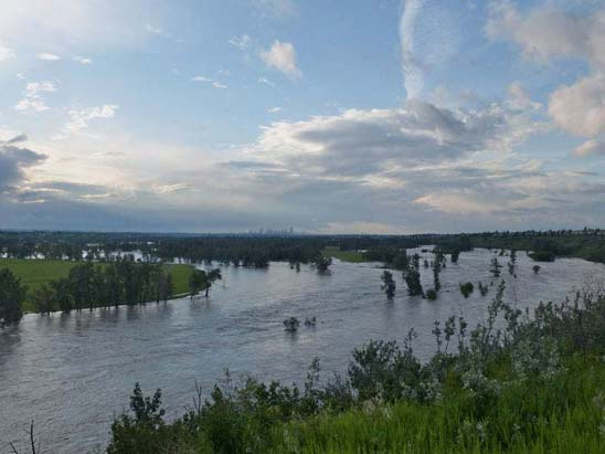 Bow River After When Disaster Strikes   State of Emergency in Calgary