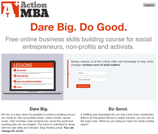 ActionMBA.com - Social Entrepreneurship